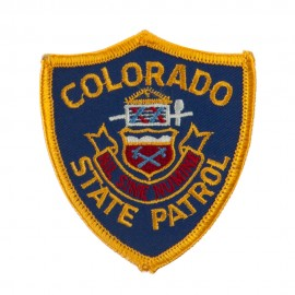 Western State Police Embroidered Patches - CO Hwy