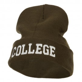 Wording of College Embroidered Long Beanie