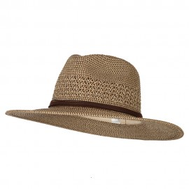 UPF 50+ Women's Paper Braid Brim Fedora Hat