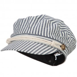 Women's Rope Accent Band Greek Sailor Stripe Hat