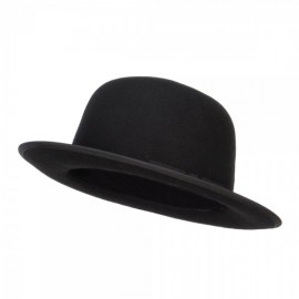 Wool Felt Bowler Wide Brim Hat