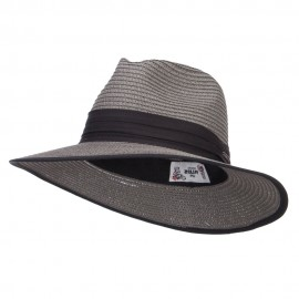 Trimmed Straw Panama Hat