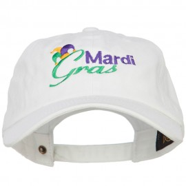 Mardi Gras with Jester Hat Embroidered Washed Cap