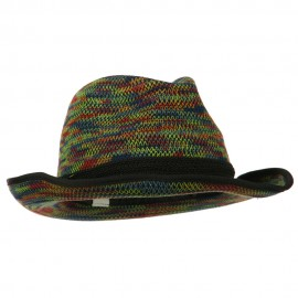 Women's Triple Hat Band Wool Fedora