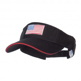 American Flag Embroidered Cotton Sandwich Visor