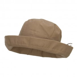 Women's Upturned Crushable Hat - Tan