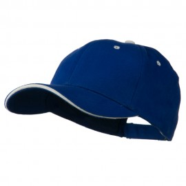 Wave Visor Brushed Cotton Cap - Royal White