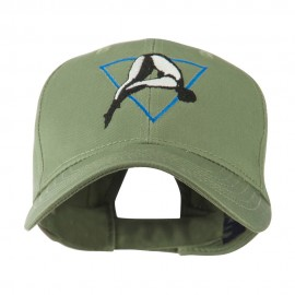 Diving Woman Logo Embroidered Cap