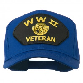 WW2 Veteran Military Patch Cap - Royal