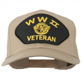 WW2 Veteran Military Patch Cap - Khaki