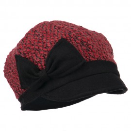 Women's Wool Bow Cabbie Cap