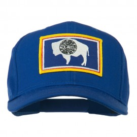 State of Wyoming Embroidered Patch Cap