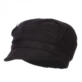 Women's Textured Button Cabbie Cap