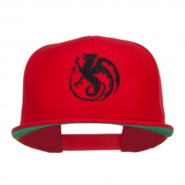 Wyvern Emblem Embroidered Snapback Cap