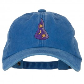 Stars and Moon Wizard Hat Embroidered Halloween Cap