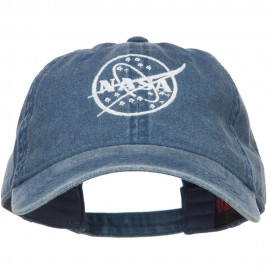 Nasa White Logo Embroidered Washed Cap