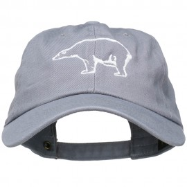 Polar Bear Embroidered Unstructured Cap