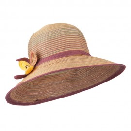 UPF40+ Polybraid Flower Sun Hat