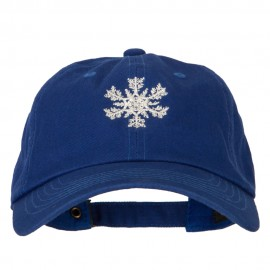 Glitter Snow Flake Embroidered Unstructured Washed Cap