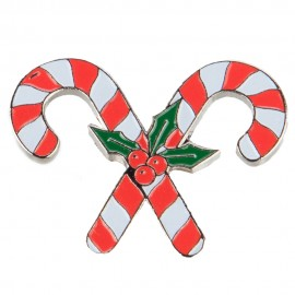 Christmas Lapel Pin - Candy Canes