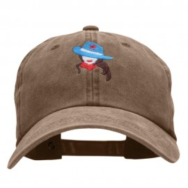 All American Cowgirl Embroidered Unstructured Cotton Cap