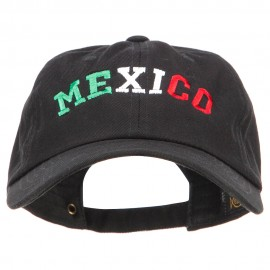 Mexico Letters Embroidered Unstructured Washed Cap