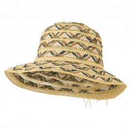 Women's Woven Braid Crushable Hat