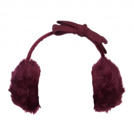 Faux Fur Felt Bow Ear Muff
