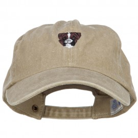 Boxer Head Embroidered Washed Cotton Twill Cap