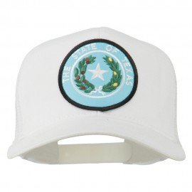 Texas State Seal Patched Mesh Cap - White