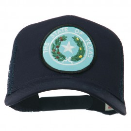 Texas State Seal Patched Mesh Cap - Navy
