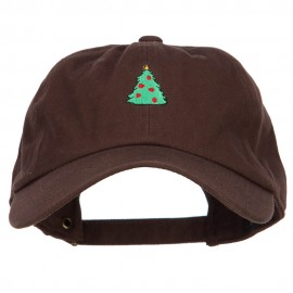 Christmas Tree Embroidered Unstructured Cap