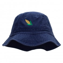 Corn On The Cob Embroidered Bucket Hat