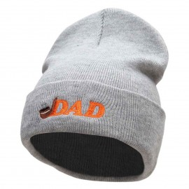The Dad Pipe Embroidered 12 Inch Long Knitted Beanie