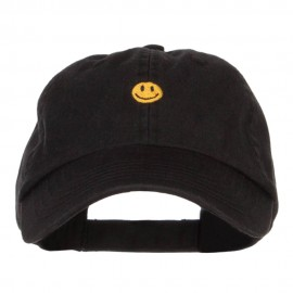 Mini Smiley Face Embroidered Pet Spun Cap