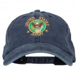US Army Circle Symbol Embroidered Washed Cotton Twill Cap