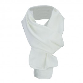 Acrylic Knit Classic Scarf - White