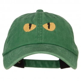 Cat Eyes Embroidered Unstructured Cotton Cap