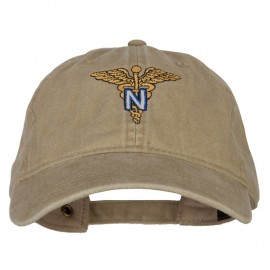 Army Nurse Corps Officer Embroidered Washed Buckled Cap