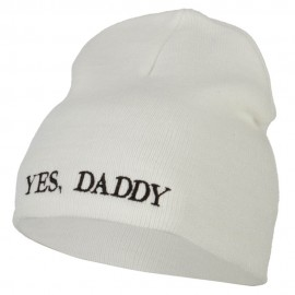 Yes Daddy Embroidered Knitted Short Beanie