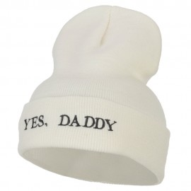 Words of Yes, Daddy Embroidered Long Beanie