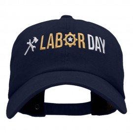 It's Labor Day Embroidered Unstructured Pigment Dyed Cotton Cap