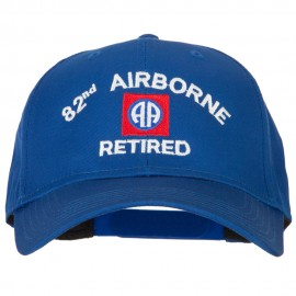US Army 82nd Airborne Retired Logo Embroidered Solid Cotton Pro Style Cap