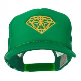 Youth Two Inches Diamond Embroidered Foam Mesh Cap