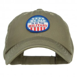 Dad in Military Patched Low Profile Cap