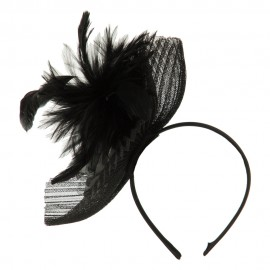 Pleated Polyester Crown Headband Fascinator