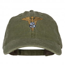 Army Medical Specialist Embroidered Washed Buckled Cap