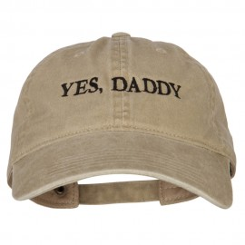 Yes Daddy Embroidered Unstructured Dyed Cotton Cap
