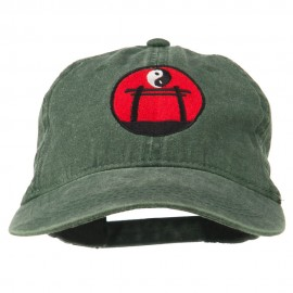 Yin and Yang Logo Embroidered Pigment Dyed Cap