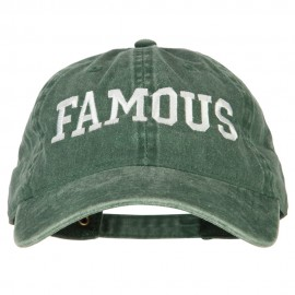 Famous Embroidered Washed Cotton Twill Cap
